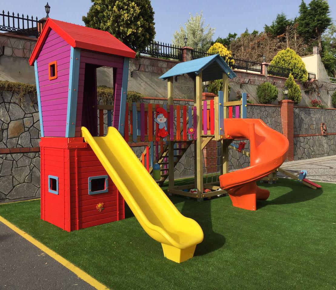Ahşap Plastik Çocuk Oyun Evi