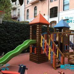Ahşap Plastik Oyun Parkları