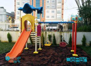 metal plastik çocuk oyun parkı ekonomik model