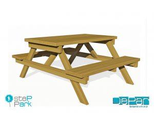 Ahşap piknik masası