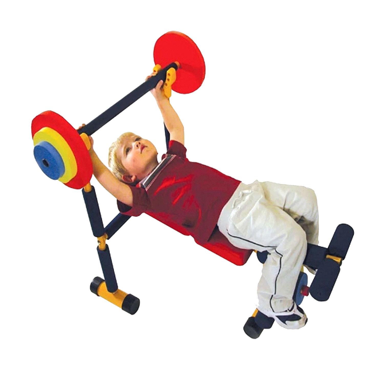 Çocuk fitness halter ağırlık kaldırma aleti