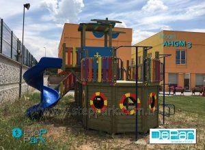 ahşap gemi oyun parkı Dream Towers Ümraniye