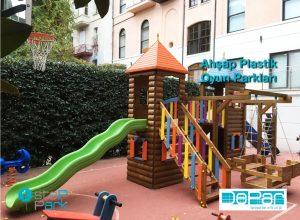 Ahşap Plastik çocuk oyun parkları