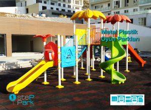 metal plastik çocuk oyun parkları