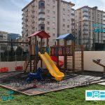 halat tırmanmalı ahşap çocuk parkı