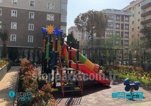 tüp kaydıraklı metal çocuk oyun parkı