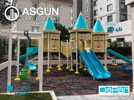 Asgün Yapı Kale Serisi Metal Oyun Parkı